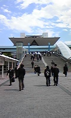 会場の東京ビックサイト・・・前にリフォームフェアでも来ました